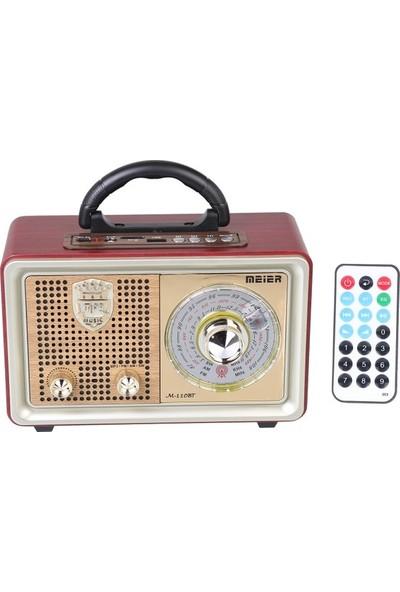Pusula M 110Bt Bluetoothlu Usb Sd Dvs Nostaljik Radyo Fm Am