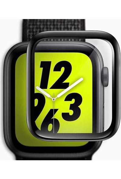 Gpack Apple Watch 40mm Full Yapışan Ekran Koruyucu Siyah