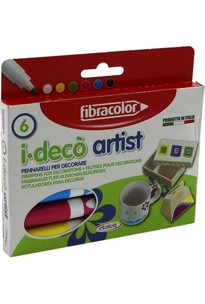 Fibracolor 6 Renk Dekorasyon Kalemi