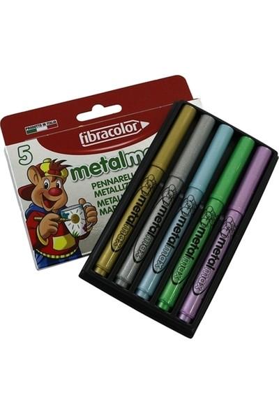 Fibracolor Metal Max Metalik 5 Renk Keçeli Kalem