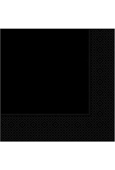 Parti Feneri Siyah Kağıt Peçete 33x33 cm 20 Adet