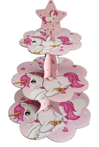 Parti Feneri Unicorn Cup Cake/ Kek Standı