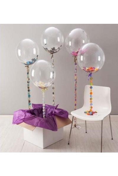 Parti Feneri Şeffaf Balon 18'inc