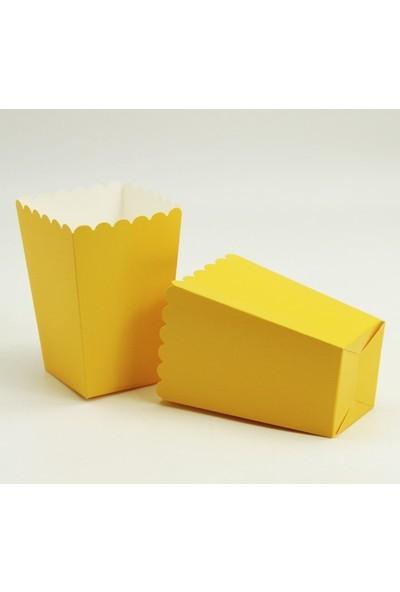 Parti Feneri Sarı Mısır/Popcorn Kutusu 10 Adet