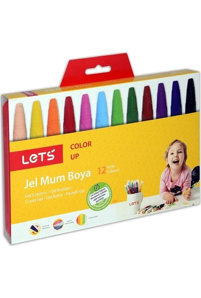 Lets 12 Renk Jel Mum Boya L-6612
