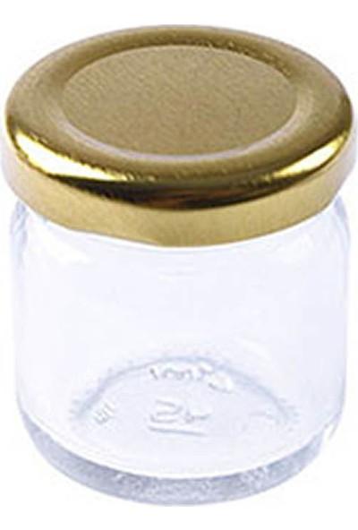 Altın Mini Cam Kavanoz