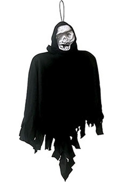 Halloween Hayalet İskelet Asma Süs Siyah 45 cm.