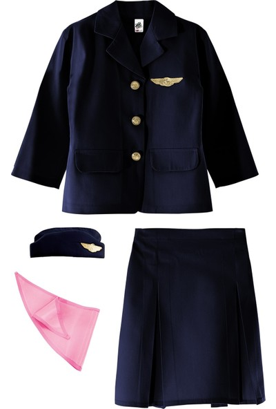 Oulabimir Hostes Kostümü Çocuk Kıyafeti