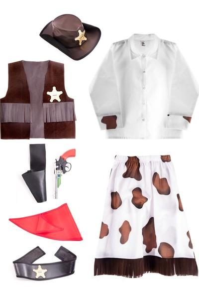 Oulabimir Kız Kovboy Kostümü Çocuk Kıyafeti