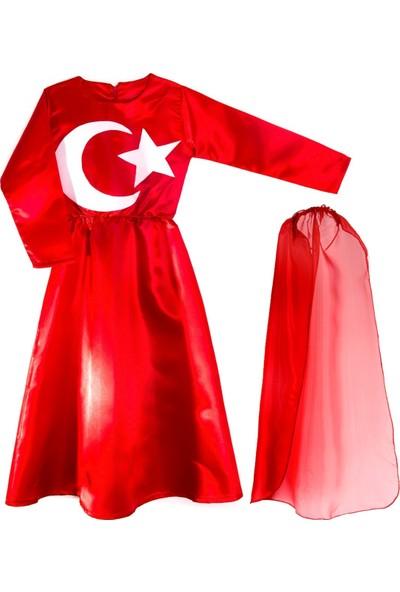 Oulabimir Türk Bayrağı Kostümü Çocuk Kıyafeti