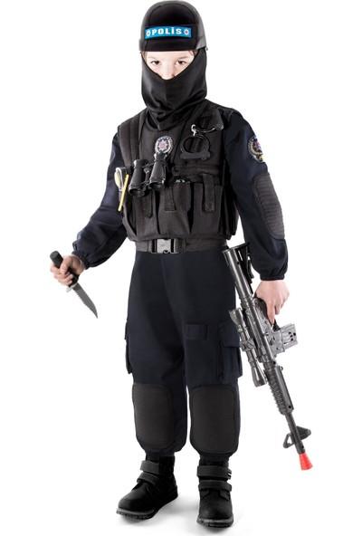 Oulabimir Polis Kostümü Çocuk Özel Harekat kıyafeti