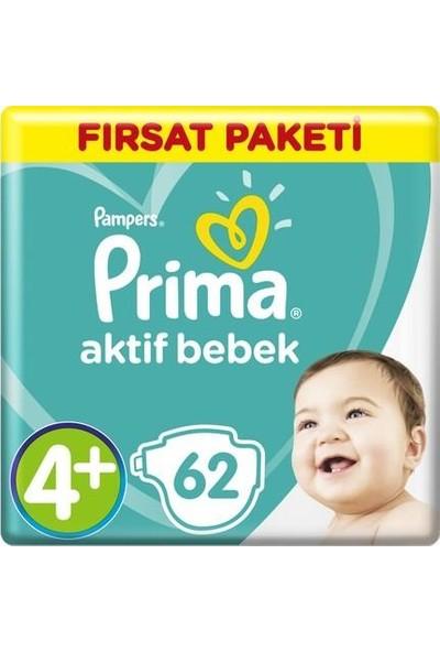 Prima Bebek Bezi Aktif Bebek No:4+ 10-15 kg 62 Li