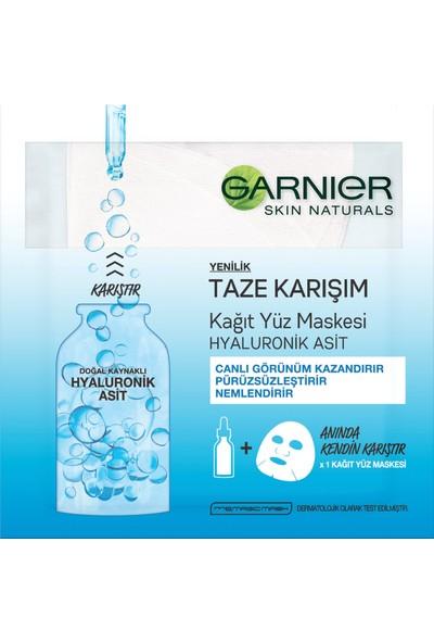 Garnier Taze Karışım Kağıt Yüz Maskesi Hyaluronik