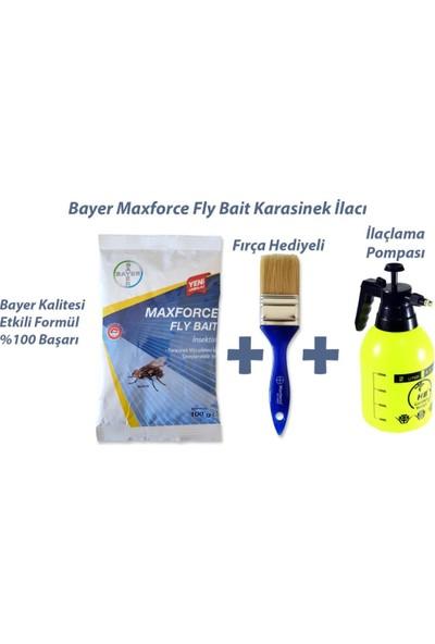 Bayer Maxforce FlyBait Karasinek Kovucu 100gr + Fırça & Kovucu Pompası