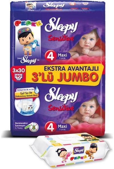 Sleepy Sensitive Bebek Bezi Maxi 4 No 90 lı