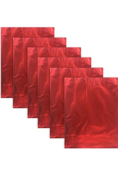 Kullan At Market Kırmızı Metalize Hediye Paketi 25 x 35cm 25liKırmızı