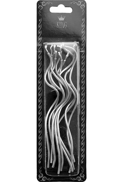 Kullan At Market Gümüş Burgulu Tel Mum 14cm 10luGümüş