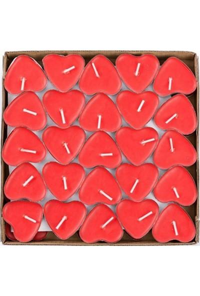 Kullan At Market Kırmızı Kalp Tealight Mum 50liKırmızı