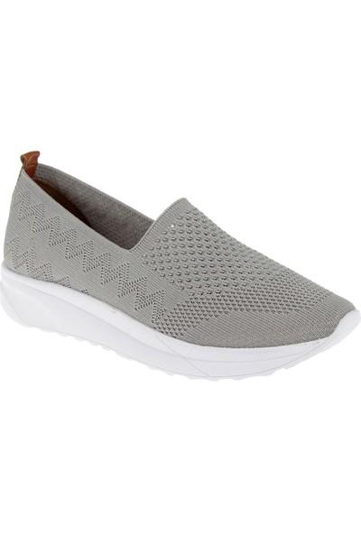 Shalin Triko Kadın Ayakkabı T2 Gri