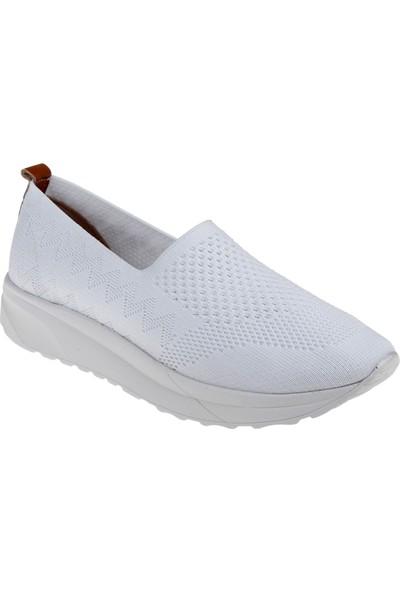 Shalin Triko Kadın Ayakkabı T2 Beyaz