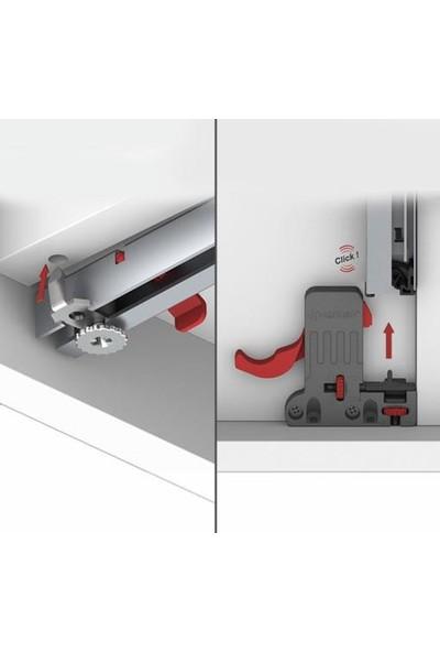 Samet Smart Slide Tek Açılım Frenli Ray 400 Mm