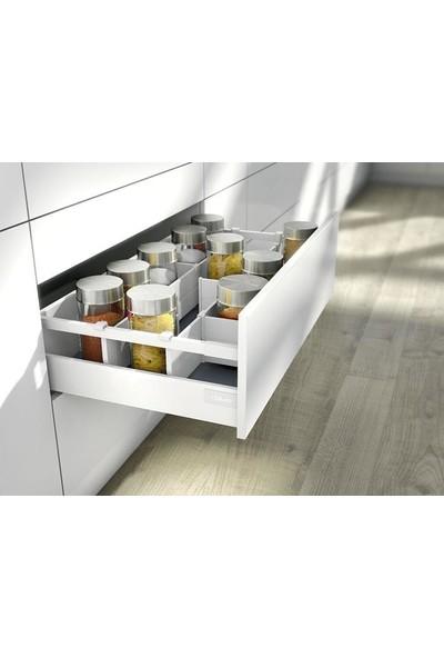 Blum Tandembox Antaro Çekmece Rayı Yüksek Bordürlü Gri 30 Cm