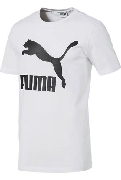 Puma Classics Logo Tee Beyaz Erkek T-Shirt