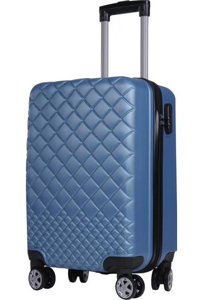 Rz Noble Gedox Kabin Boy Valiz 8 Tekerlekli Policarbon Bavul Mavi 1468