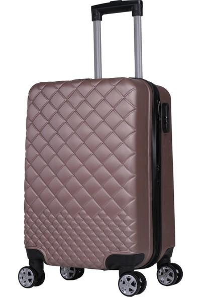 Rz Noble Gedox Kabin Boy Valiz 8 Tekerlekli Policarbon Bavul Rose 1468