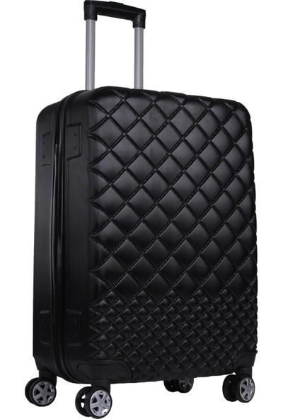 Rz Noble Gedox Orta Boy Valiz 8 Tekerlekli Policarbon Bavul Siyah 1468