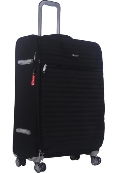 It Luggage Ultra Light Orta ve Kabin Boy Kumaş Valiz Seti Siyah 2148