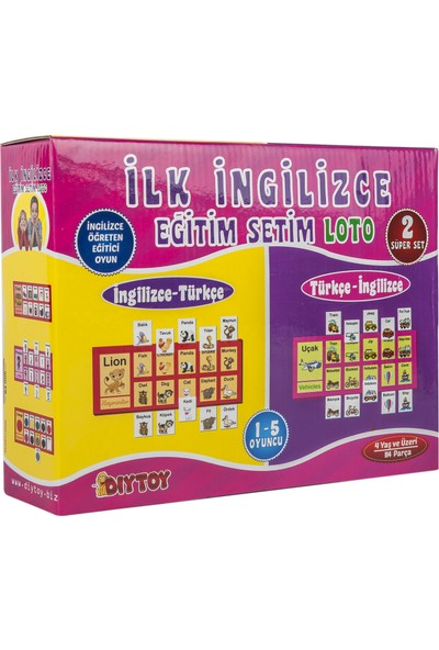 Diytoy 1154 İlk İngilizce Loto Eğitim Seti