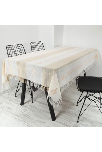 Masa Örtüsü Safir 140x180 Cm Bej