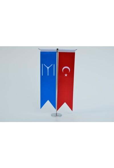 Meteor Kayı Boyu Ve Türk Bayrağı Kırlangıç Masa Bayrak Takımı