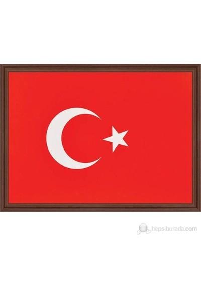 Meteor Türk Bayrağı Mdf Çerçeveli 30X45