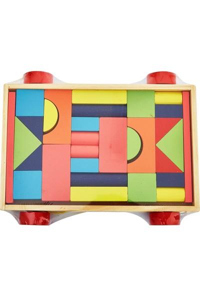 Gepettoys Zeka Geliştirici Ahşap Bloklar Kutulu 30 Parça Ahşap Oyuncak