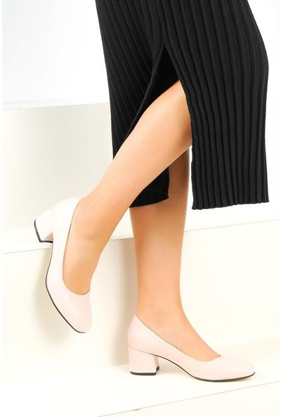 Pembe Potin Kadın Klasik Topuk