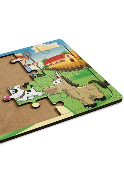 Maketçiniz Çiftliğim 24 Parça Ahşap Puzzle