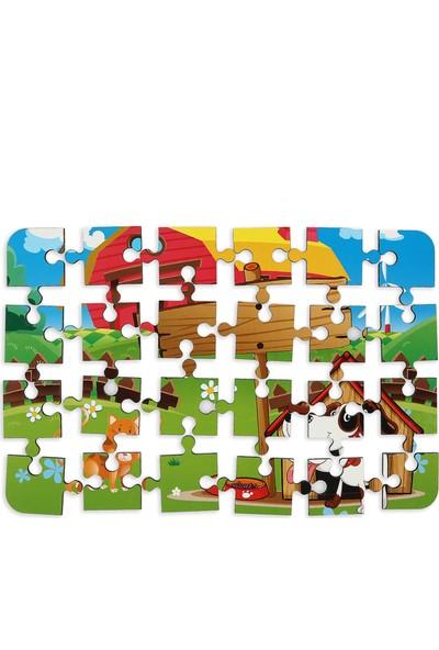 Maketçiniz Köpek ve Kedi 24 Parça Ahşap Puzzle