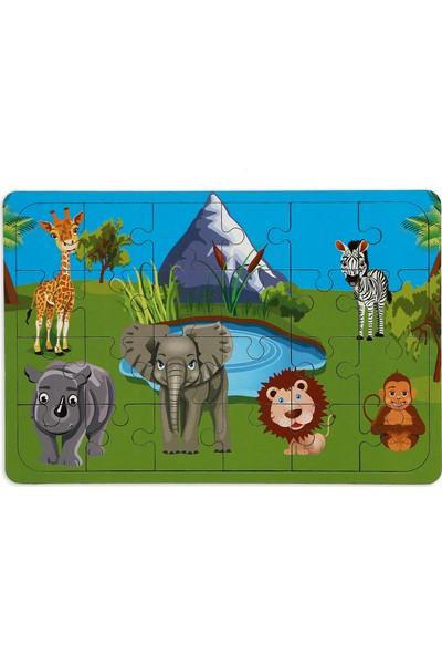 Maketçiniz Safari 24 Parça Ahşap Puzzle