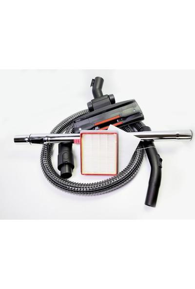 Fakir Veyron Turbo Elektrikli Süpürge Çelik Telli Hortumu Emici Başlık Teleskopik Boru Hepa Filtre