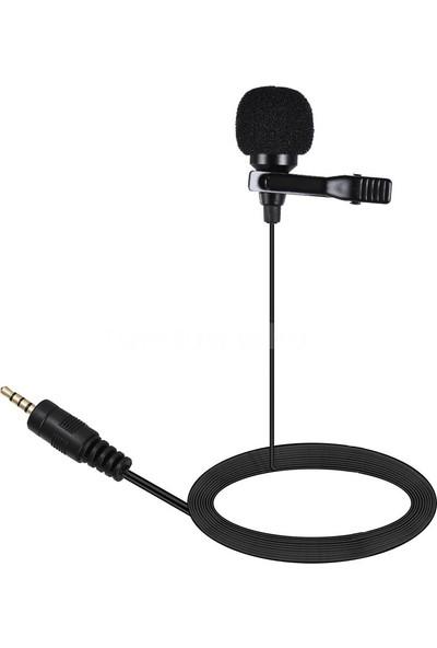 Arimic Kablolu Yaka Mikrofonu Youtuber Mikrofonu -1.5 Metre