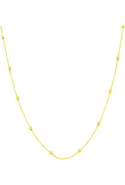 Azuris Alk1601 925 Ayar Gümüş Toplu Zincir Kolye 45 Cm