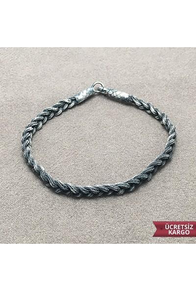 Midyat Gümüş Dünyası Sarmal Model 1000 Ayar Saf Kazaziye Gümüş Bay-Bayan Bileklik (Stok Kodu: 20134918)