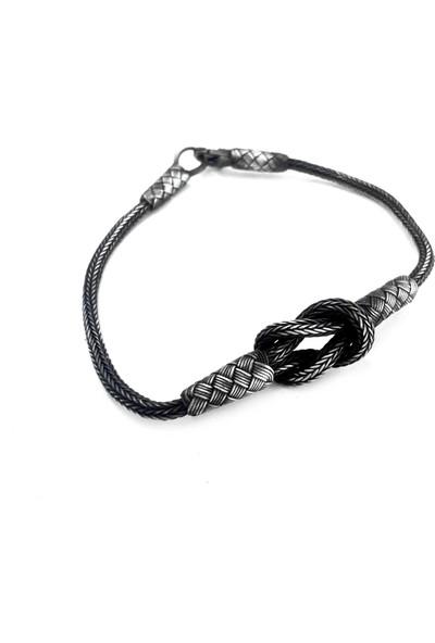 Midyat Gümüş Dünyası 'Aşk Düğümü'' 1000 Ayar Unisex(Bay-Bayan) Gümüş Bileklik