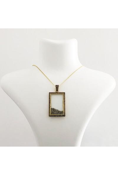 Sufi Design Pırlanta Çerçeve Kolye, Gümüş Kolye Gpr0010