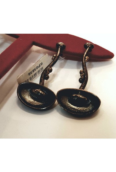 Tyelo Takı 925 Ayar Gümüş, Oksitli Ve Özel Tasarım El İşi Küpe