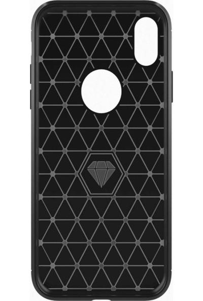 Microcase Xiaomi Redmi 6A Brushed Carbon Fiber Silikon Kılıf