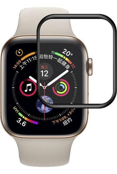 Microcase Apple Watch Series 4 40 mm Silikon Çerçeveli Tempered Glass Cam Koruma