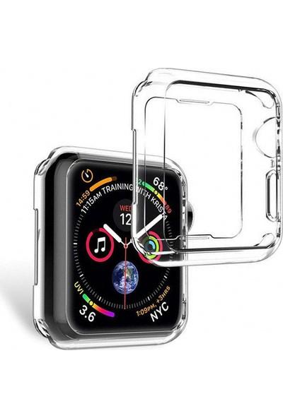 Microcase Apple Watch Seri 4 40 mm Önü Açık Tasarım Silikon Kılıf